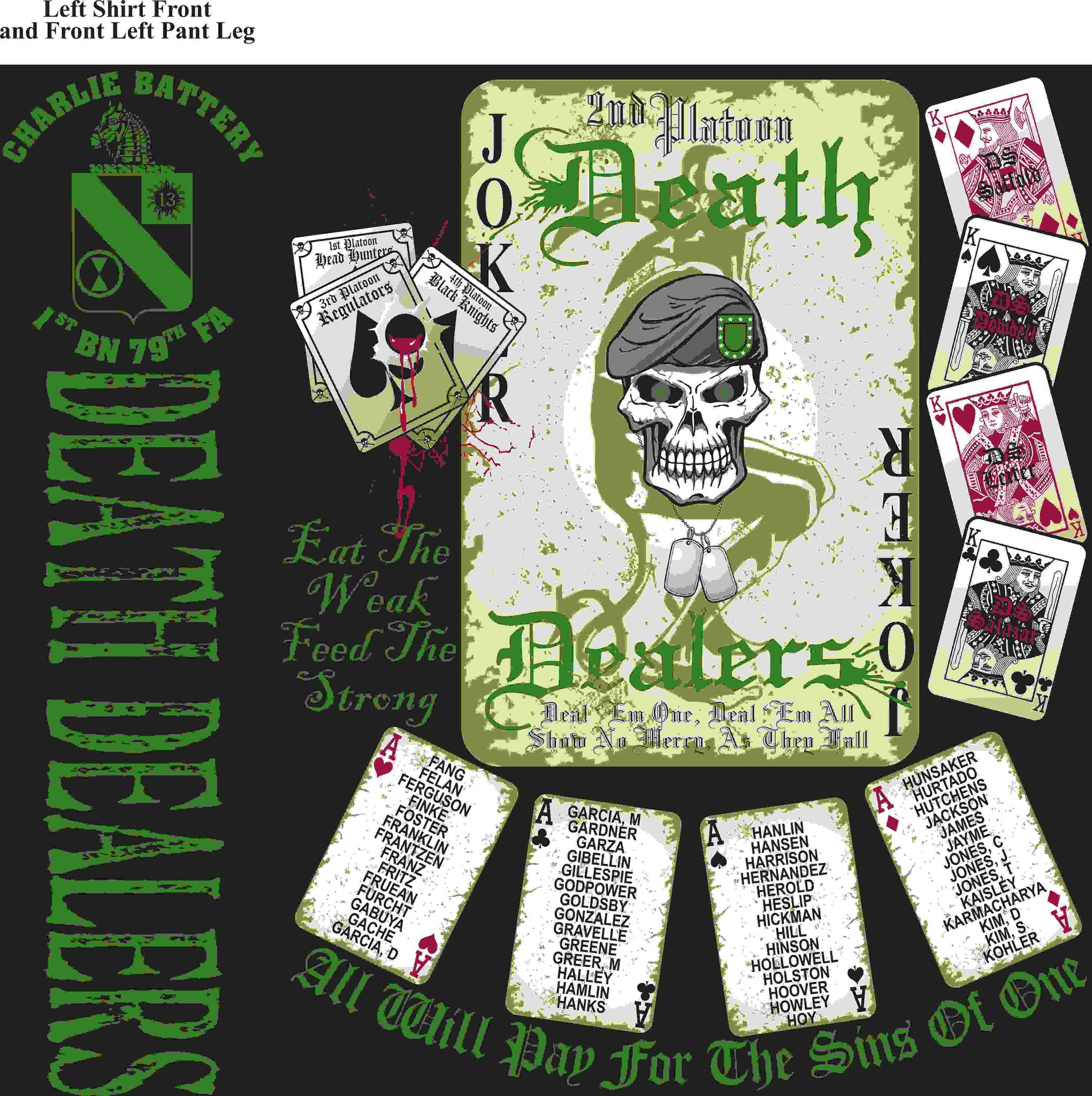 PLATOON SHIRTS (digital) CHARLIE 1st 79th DEATH DEALERS JAN 2016