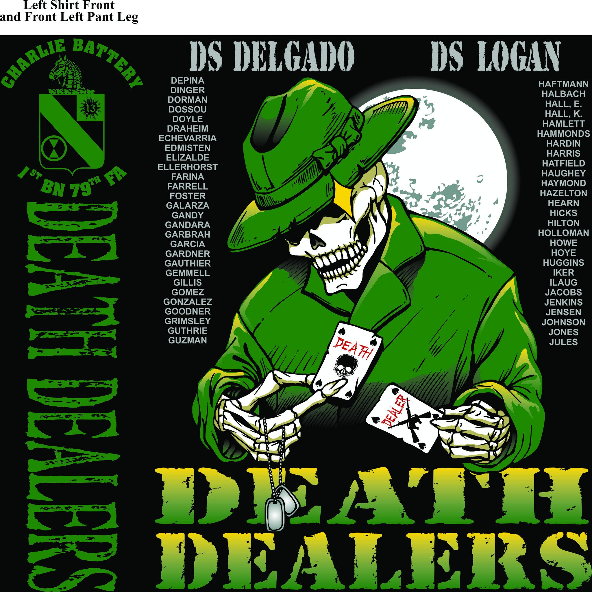 Platoon Shirts CHARLIE 1st 79th DEATH DEALERS JULY 2015