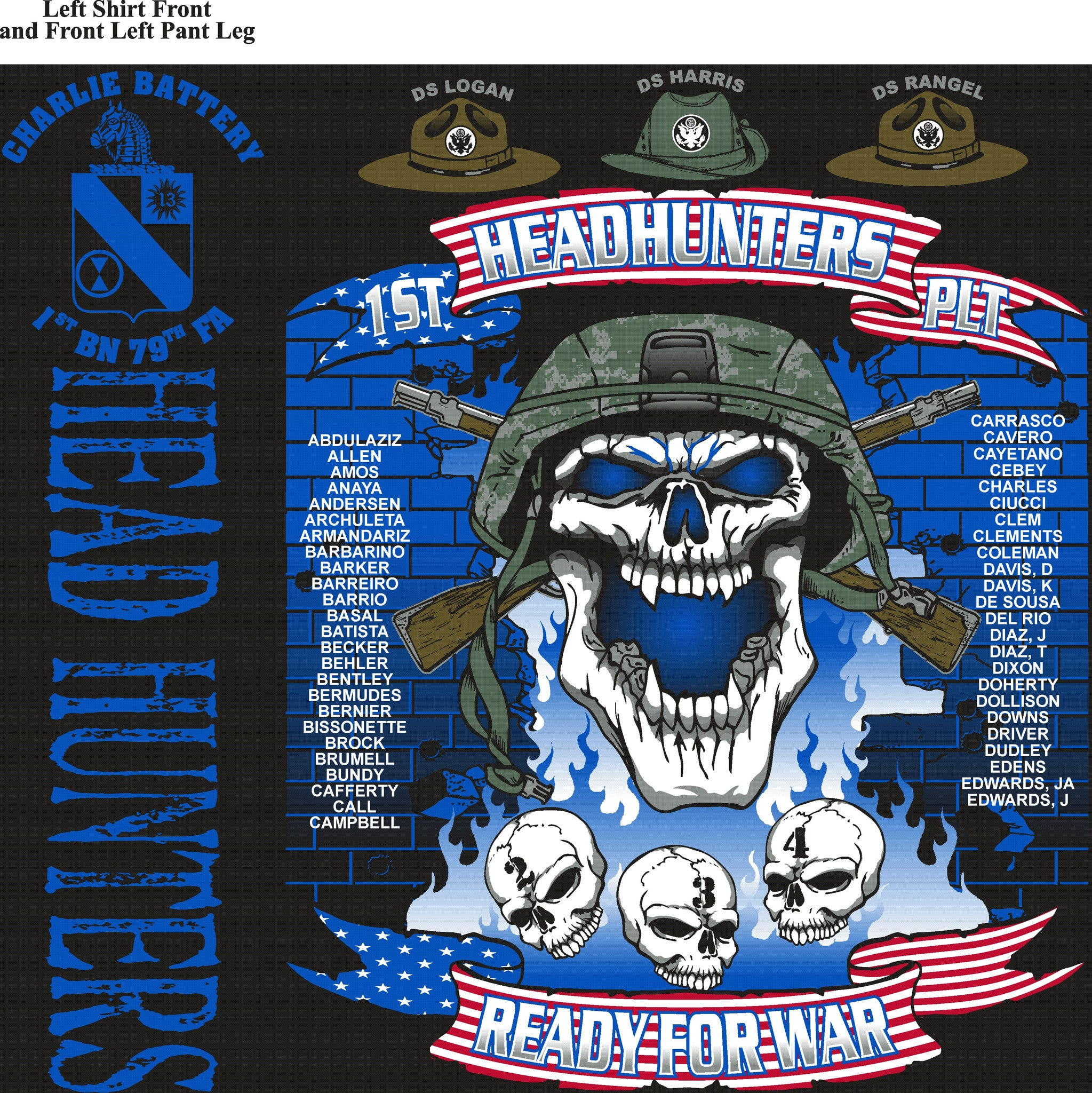 PLATOON SHIRTS (digital) CHARLE 1st 79th HEAD HUNTERS OCT 2015