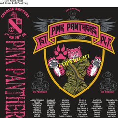 Platoon Shirts (2nd generation print) CHARLIE 1st 79th PINK PANTHERS NOV 2018
