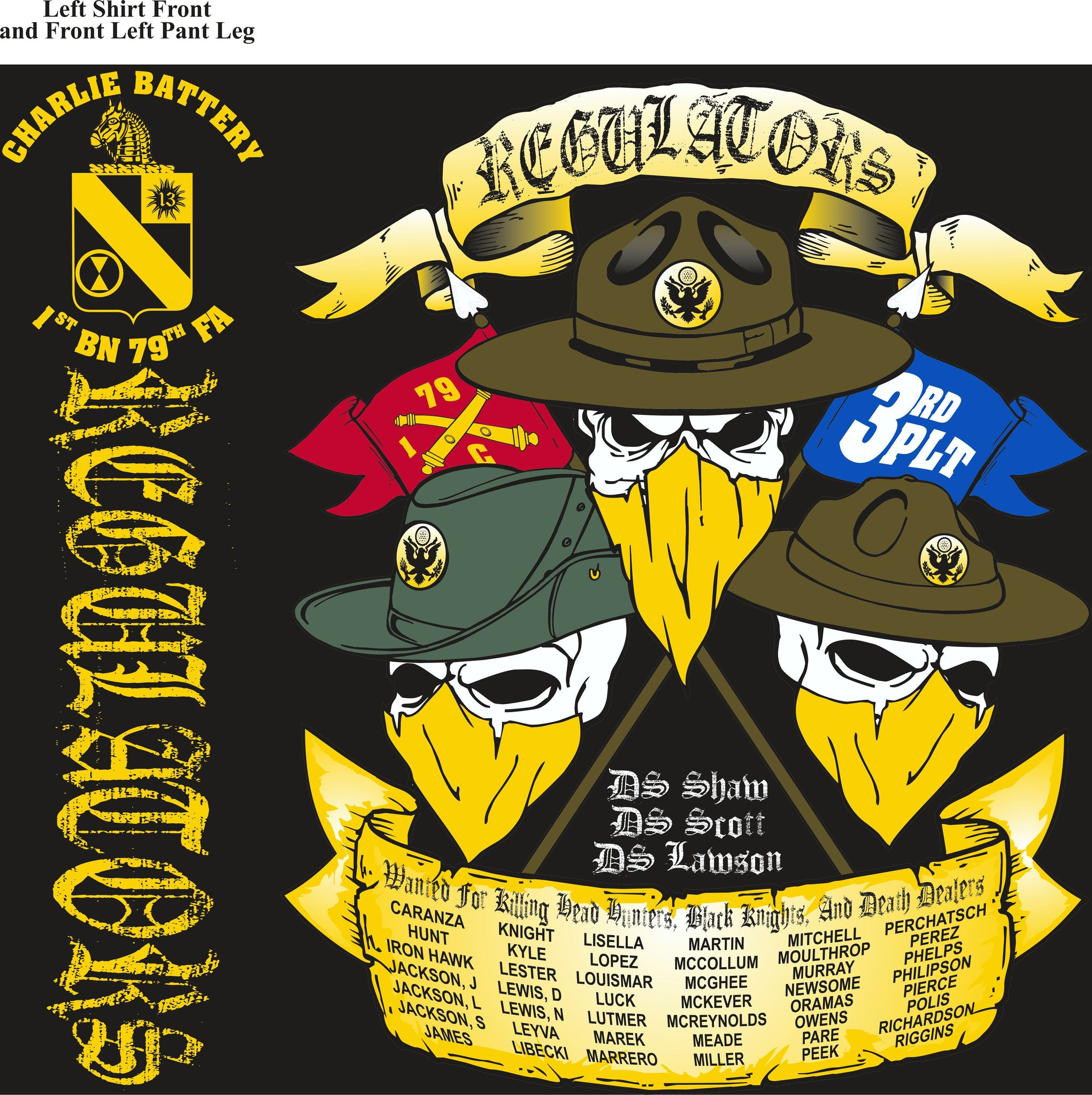 Platoon Shirts CHARLIE 1st 79th REGULATORS APR 2015