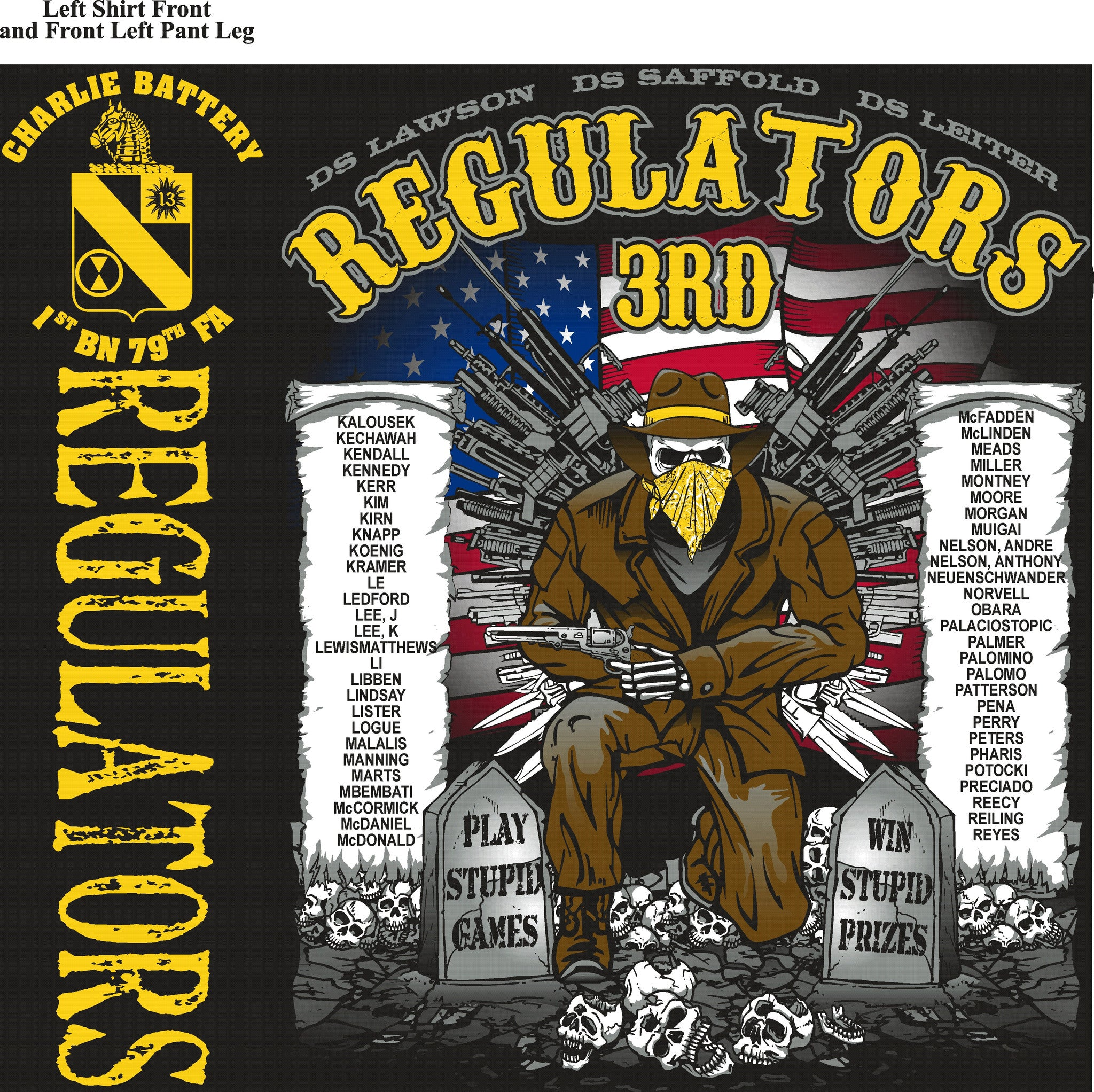 Platoon Shirts CHARLIE 1st 79th REGULATORS JULY 2015