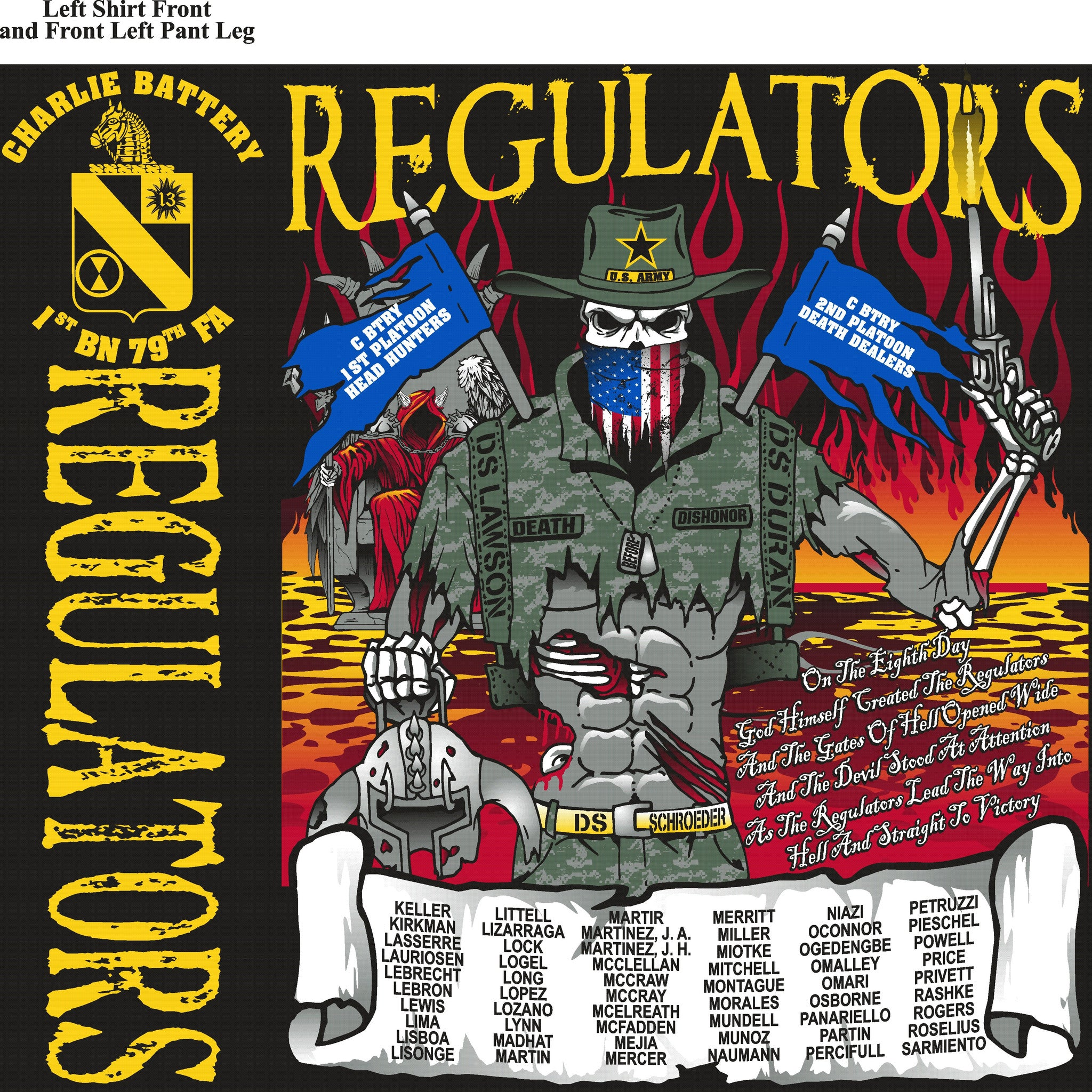 PLATOON SHIRTS (digital) CHARLE 1st 79th REGULATORS OCT 2015