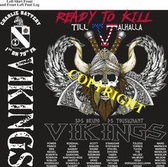 Platoon Shirts (2nd generation print) CHARLIE 1st 79th VIKINGS DEC 2019