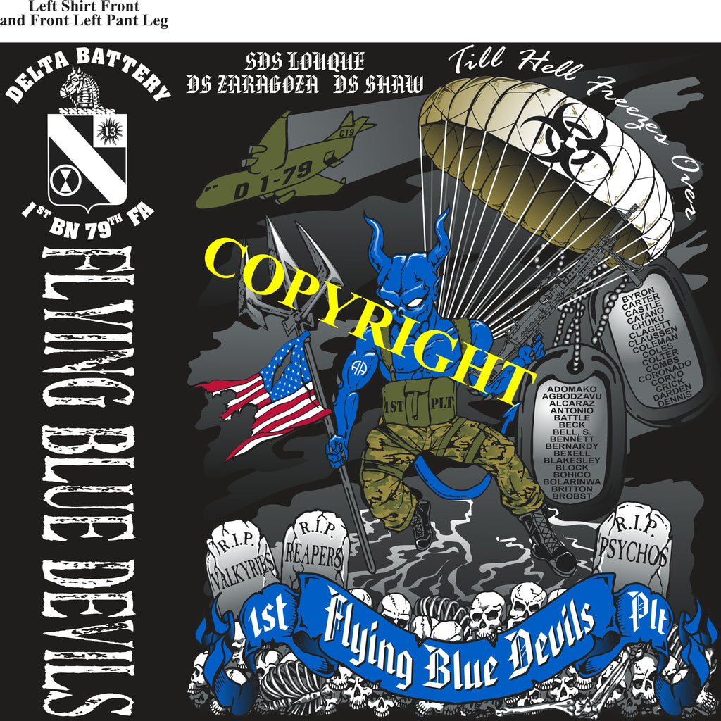 Platoon Shirts (2nd generation print) DELTA 1st 79th FLYING BLUE DEVILS JAN 2021