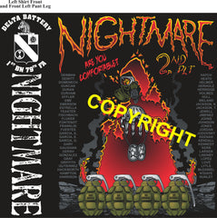 Platoon Shirts (2nd generation print) DELTA 1st 79th NIGHTMARE APR 2021