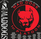 Platoon Shirts (2nd generation print) DELTA 1ST 19TH MAD DOGS FEB 2018