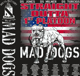 Platoon Shirts (2nd generation print) DELTA 1ST 19TH MAD DOGS OCT 2017