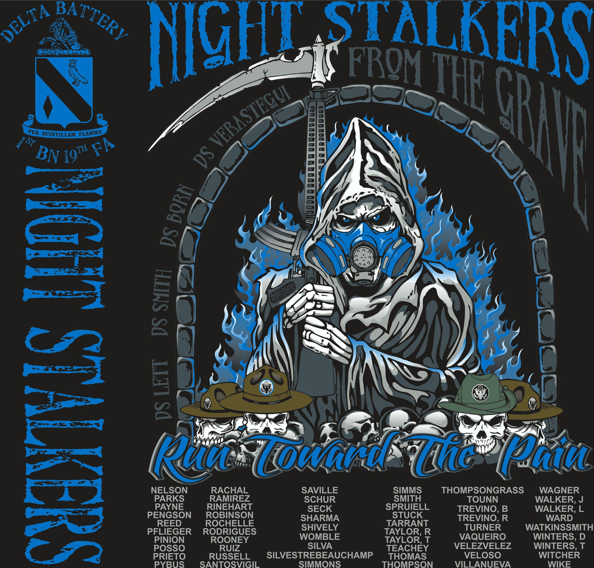 Platoon Shirts DELTA 1st 19th NIGHT STALKERS APR 2015