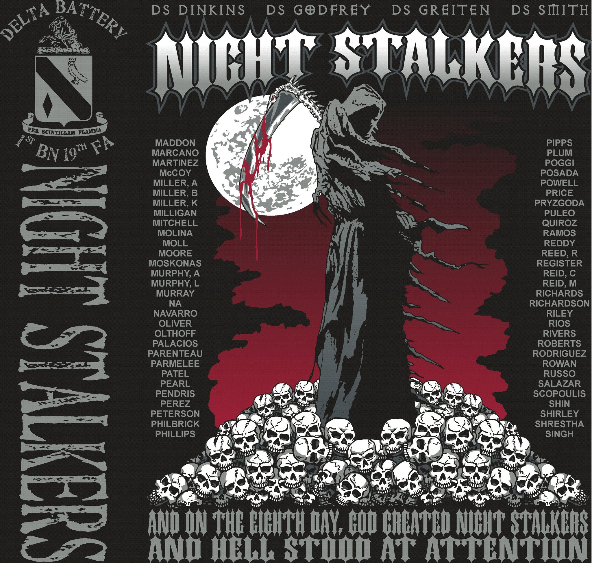 Platoon Shirts Delta 1st 19th NIGHT STALKERS OCT 2015