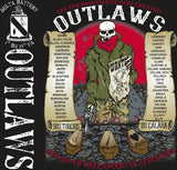 Platoon Shirts (2nd generation print) DELTA 1st 19th OUTLAWS AUG 2018