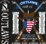 PLATOON SHIRTS (2nd generation print) DELTA 1st 19th OUTLAWS JAN 2017