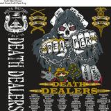 PLATOON SHIRTS (2nd generation print) DELTA 1st 31st DEATH DEALERS JULY 2017
