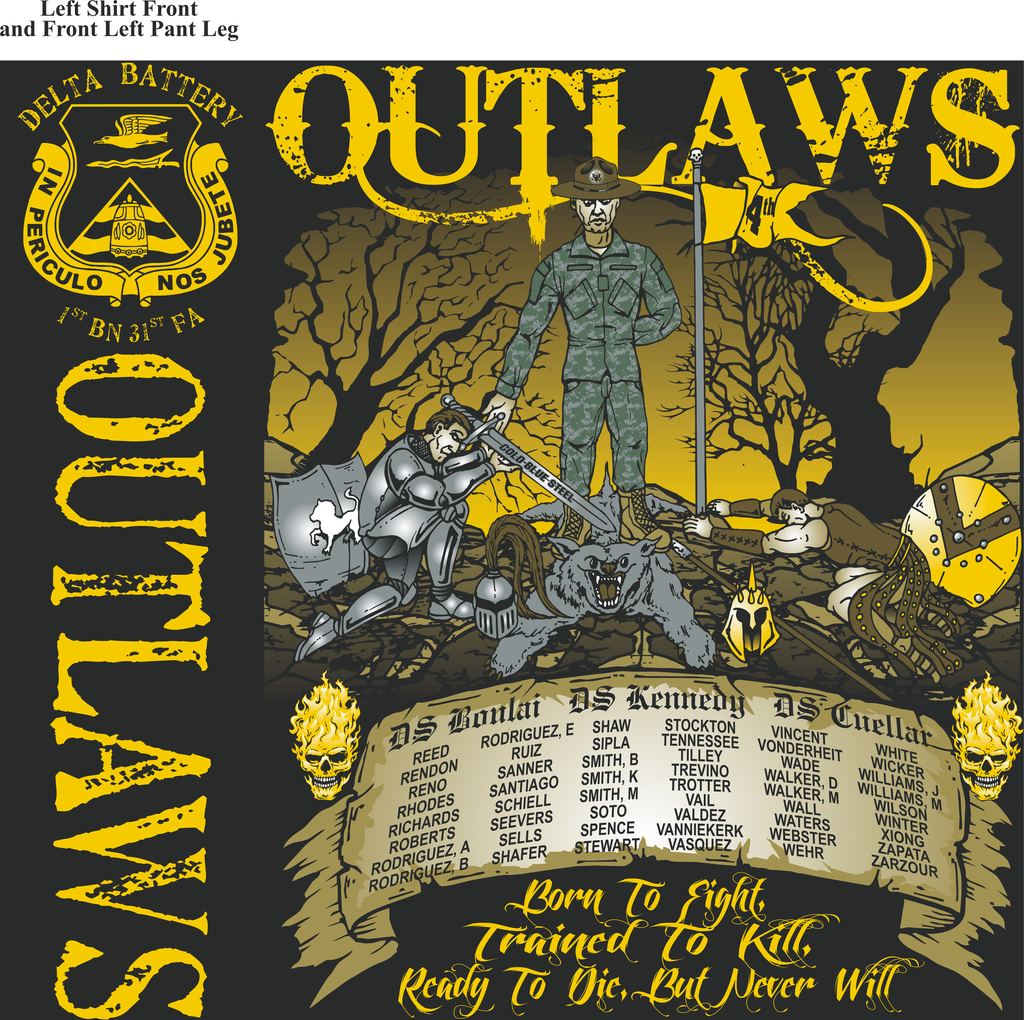 Platoon Shirts Delta 1st 31st OUTLAWS MAR 2015