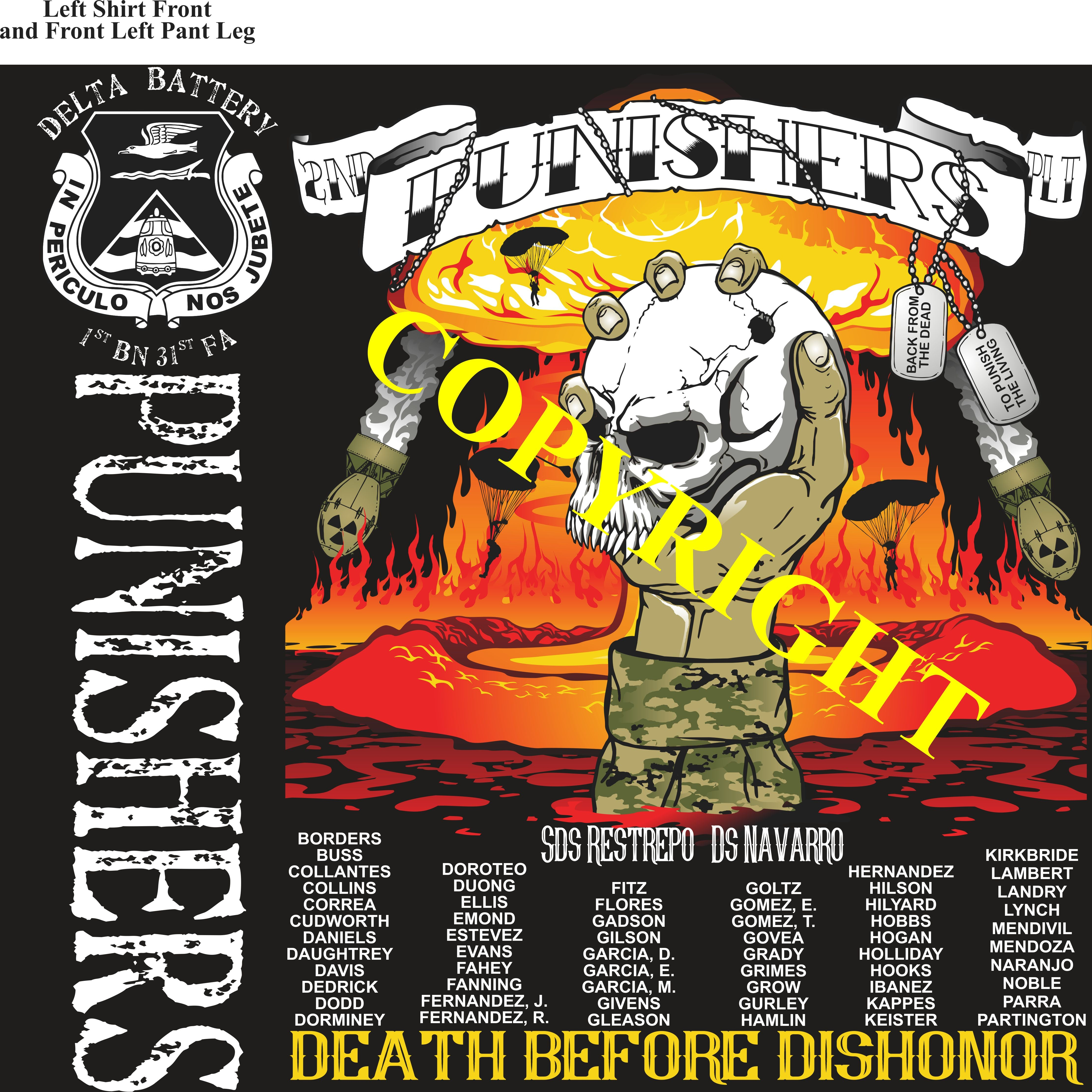 Platoon Shirts (2nd generation print) DELTA 1st 31st PUNISHERS OCT 2019