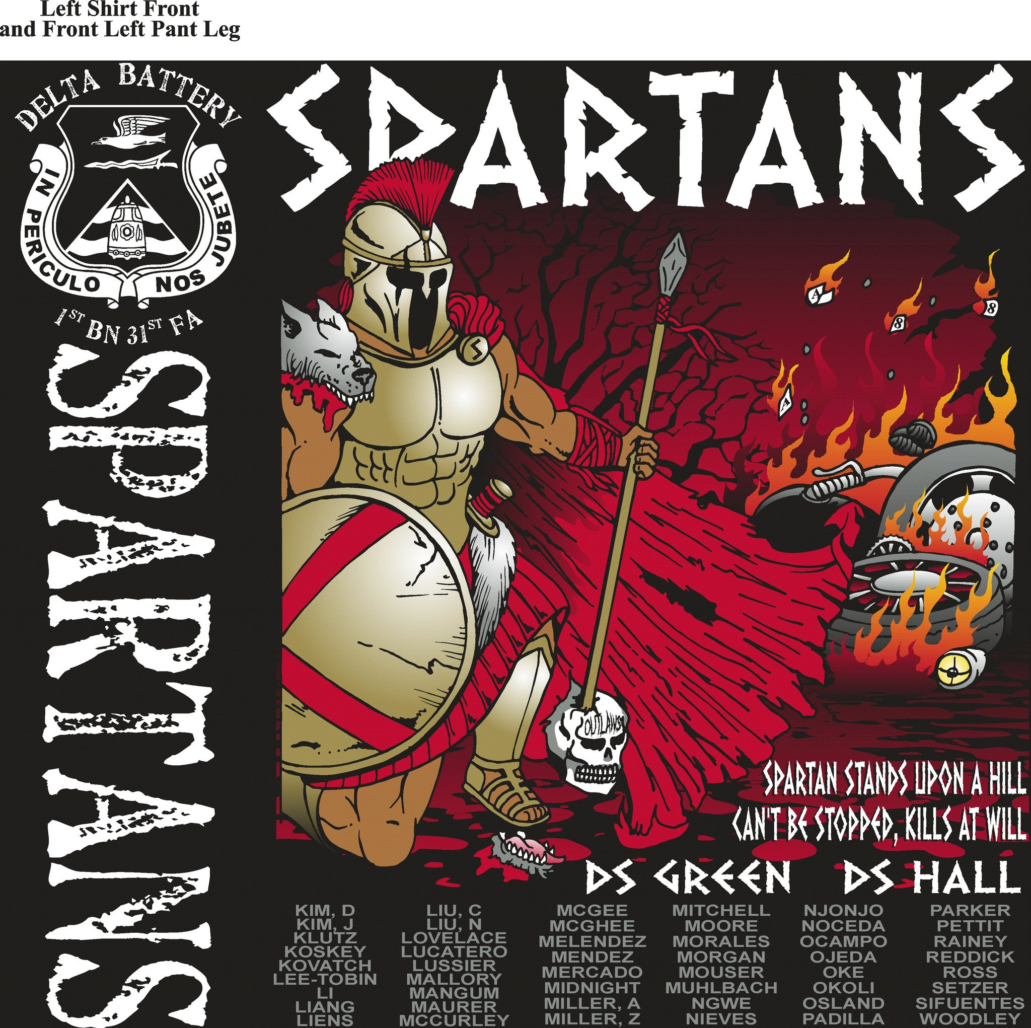 PLATOON SHIRTS (digital) DELTA 1st 31st SPARTANS DEC 2015
