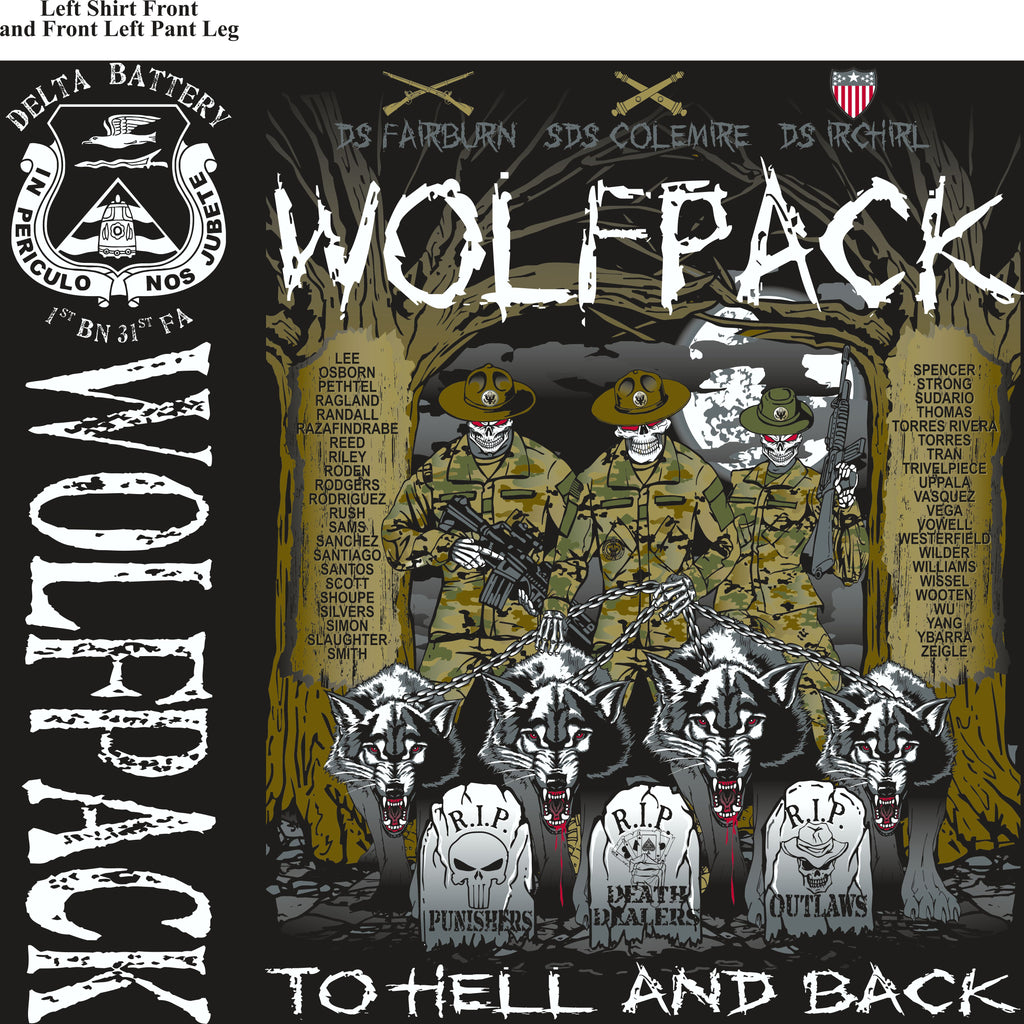 Platoon Shirts (2nd generation print) DELTA 1st 31st WOLFPACK JULY 2018