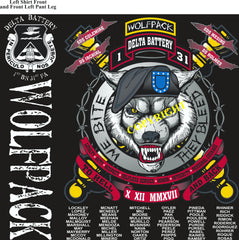 Platoon Shirts (2nd generation print) DELTA 1st 31st WOLFPACK OCT 2018