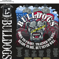 Platoon Shirts (2nd generation print) DELTA 1st 40th BULLDOGS OCT 2018