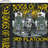 Platoon Shirts DELTA 1st 40th DOGS OF WAR SEPT 2015