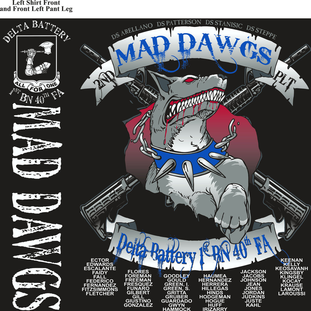 PLATOON SHIRTS (2nd generation print) DELTA 1st 40th MADDAWGS DEC 2016