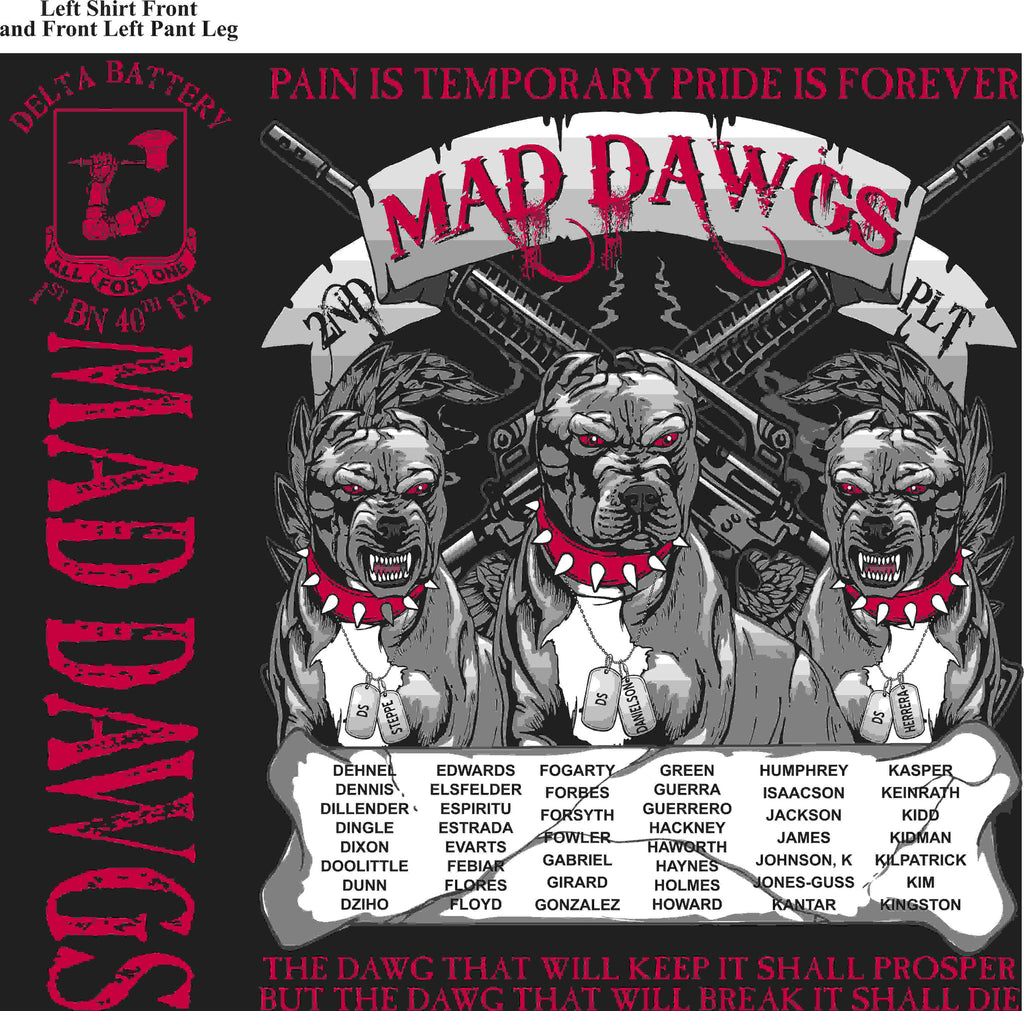 PLATOON SHIRTS (2nd generation print) DELTA 1st 40th MADDAWGS MAR 2016