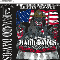 Platoon Shirts (2nd generation print) DELTA 1st 40th MADD DAWGS JULY 2018