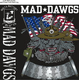 Platoon Shirts (2nd generation print) DELTA 1ST 40TH MAD DAWGS SEPT 2017