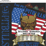 Platoon Shirts Delta 1st 40th PITBULLS MAR 2015