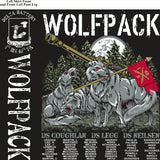 PLATOON SHIRTS (2nd generation print) DELTA 1st 40th WOLFPACK DEC 2016