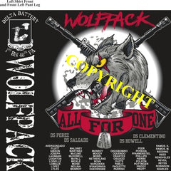 Platoon Shirts (2nd generation print) DELTA 1st 40th WOLFPACK FEB 2020