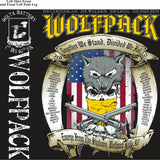 PLATOON SHIRTS (2nd generation print) DELTA 1st 40th WOLFPACK JULY 2017