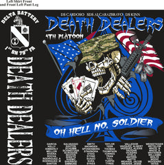 Platoon Shirts (2nd generation print) DELTA 1ST 79TH DEATH DEALERS AUG 2018