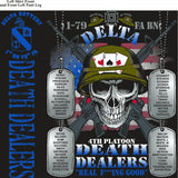 PLATOON SHIRTS (2nd generation print) DELTA 1st 79th DEATH DEALERS SEPT 2016