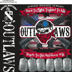 Platoon Shirts (2nd generation print) DELTA 1ST 79TH OUTLAWS JAN 2018