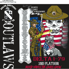 Platoon Shirts (2nd generation print) DELTA 1st 79th OUTLAWS OCT 2018
