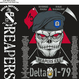 PLATOON SHIRTS (2nd generation print) DELTA 1st 79th REAPERS DEC 2016