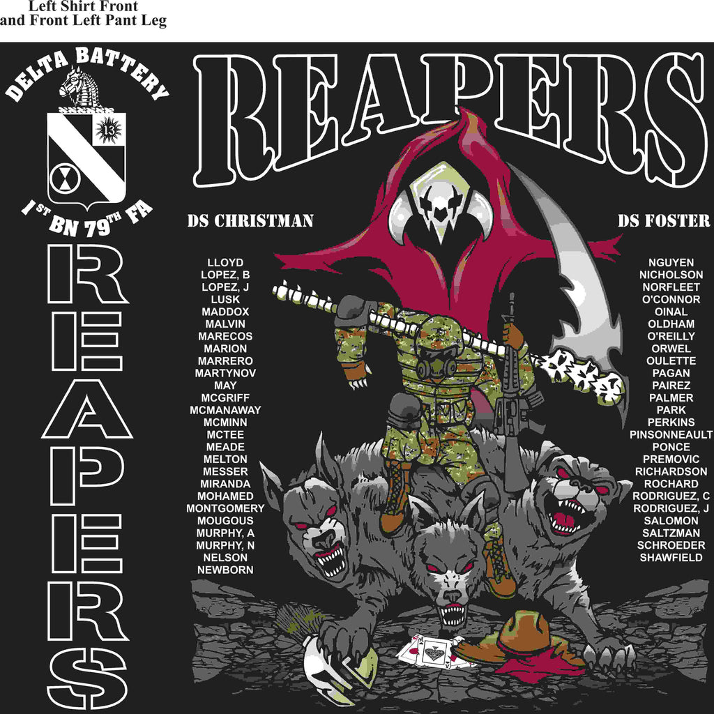 PLATOON SHIRTS (2nd generation print) DELTA 1st 79th REAPERS APR 2016