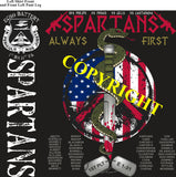 Platoon Shirts ECHO 1st 31st SPARTANS AUG 2020