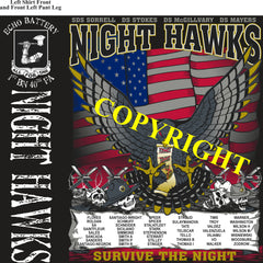Platoon Shirts (2nd generation print) ECHO 1st 40th NIGHT HAWKS APR 2020
