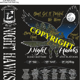 Platoon Shirts (2nd generation print) ECHO 1st 40th NIGHT HAWKS JULY 2020