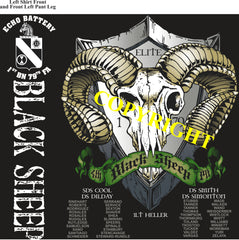 Platoon Shirts (2nd generation print) ECHO 1st 79th BLACK SHEEP JULY 2020