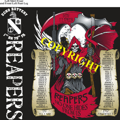 Platoon Shirts (2nd generation print) ECHO 1st 79th REAPERS OCT 2020