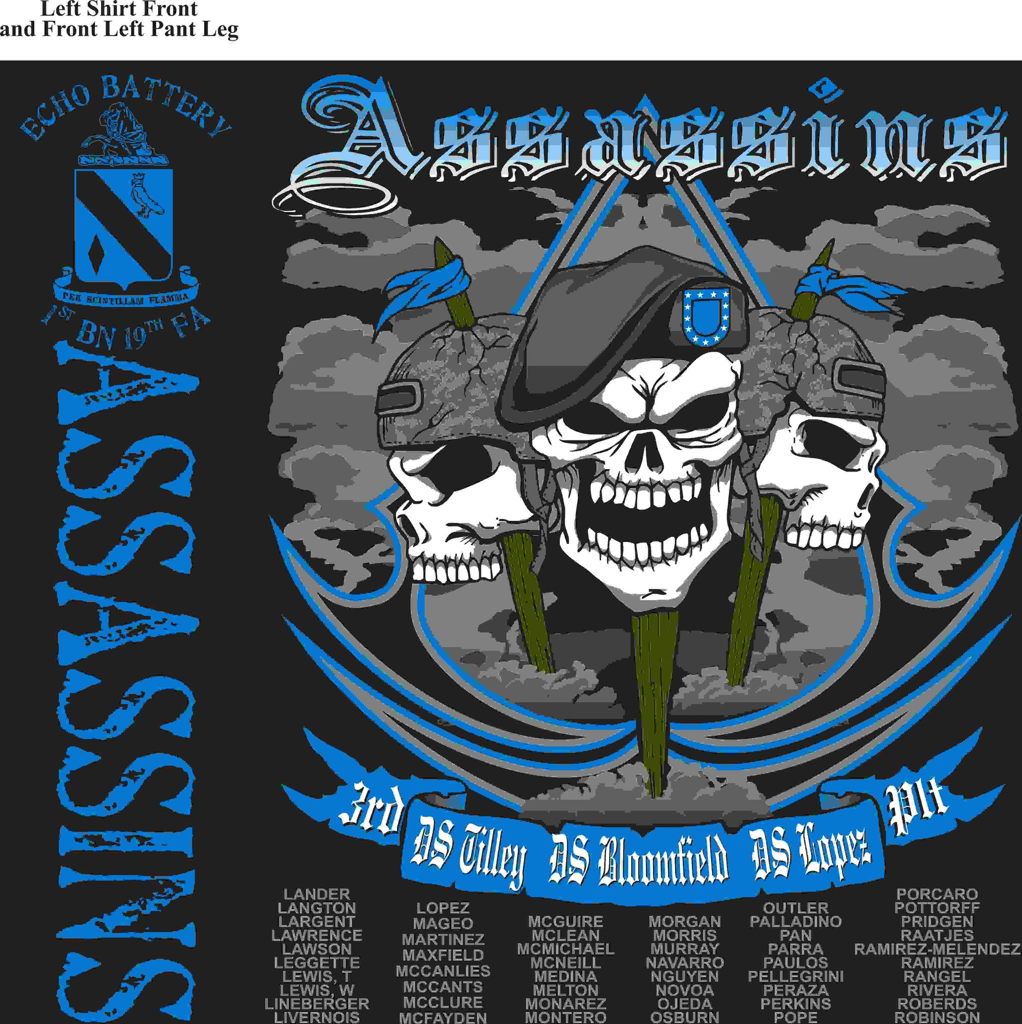 PLATOON SHIRTS (digital) ECHO 1st 19th ASSASSINS JAN 2016