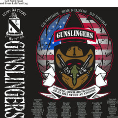 Platoon Shirts (2nd generation print) ECHO 1st 19th GUNSLINGERS AUG 2018