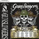 Platoon Shirts (2nd generation print) ECHO 1st 19th GUNSLINGERS JUNE 2018