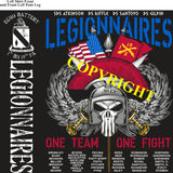 Platoon Shirts (2nd generation print) ECHO 1st 19th LEGIONNAIRES NOV 2019