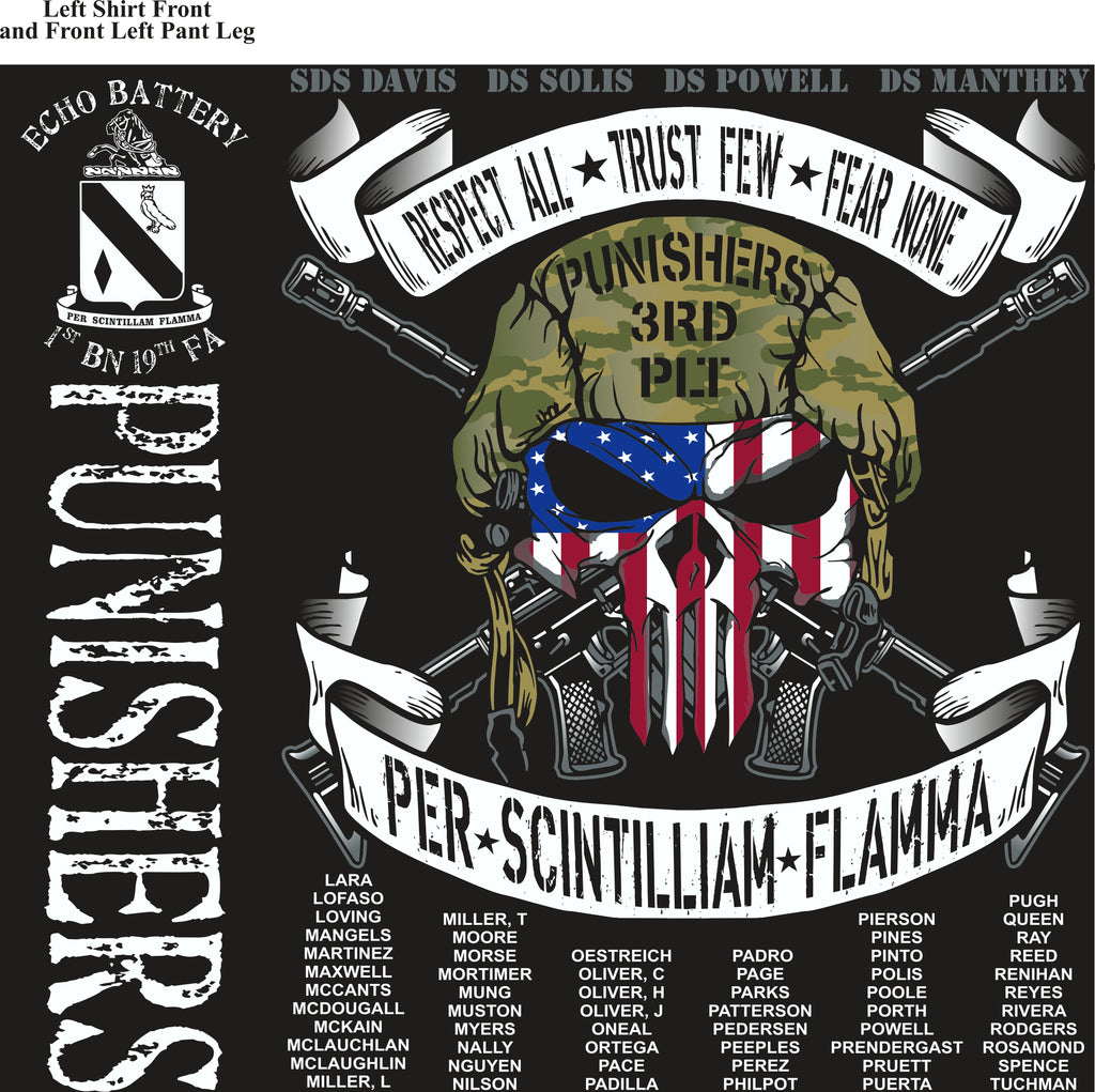 Platoon Shirts (2nd generation print) ECHO 1st 19th PUNISHERS AUG 2018