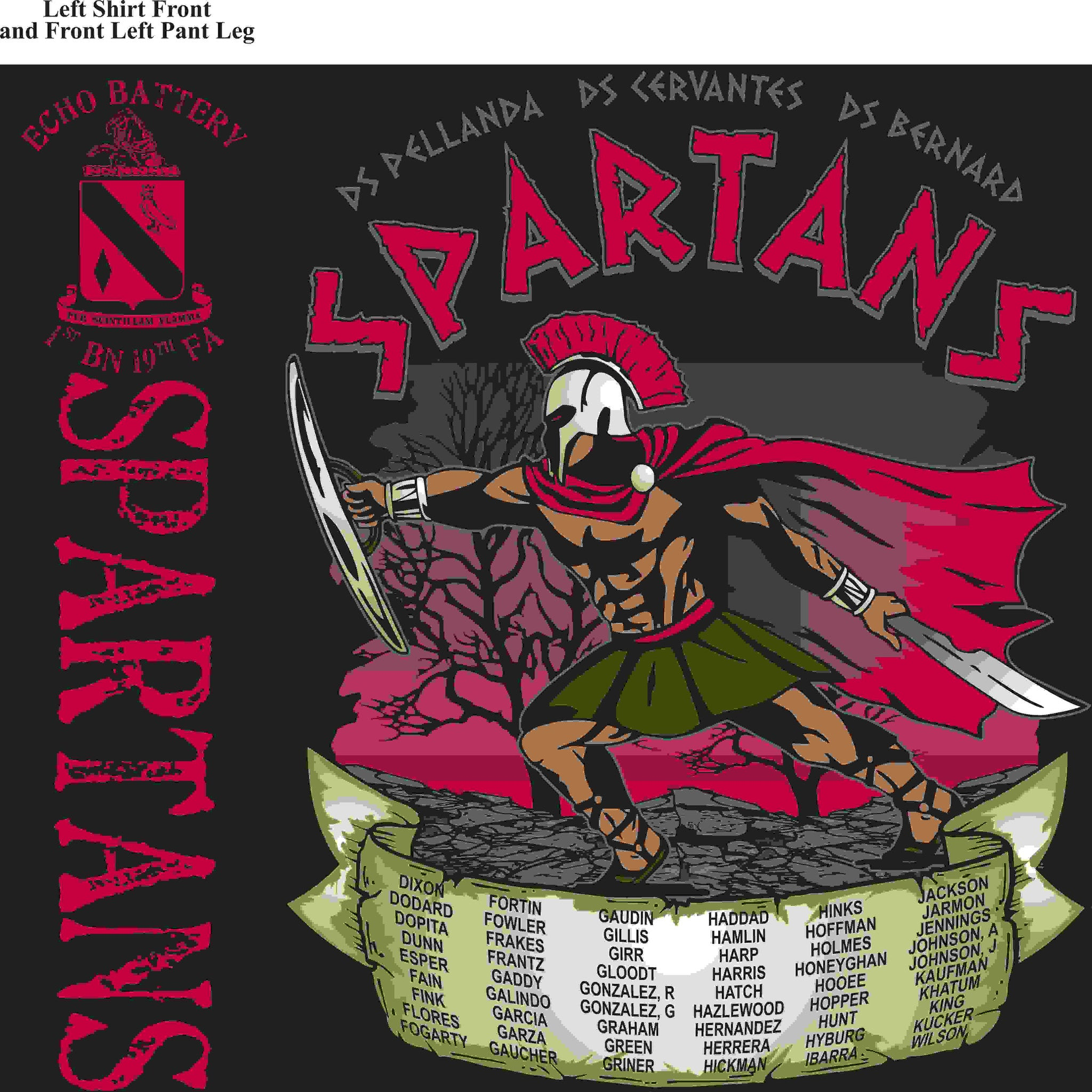 PLATOON SHIRTS (digital) ECHO 1st 19th SPARTANS JAN 2016