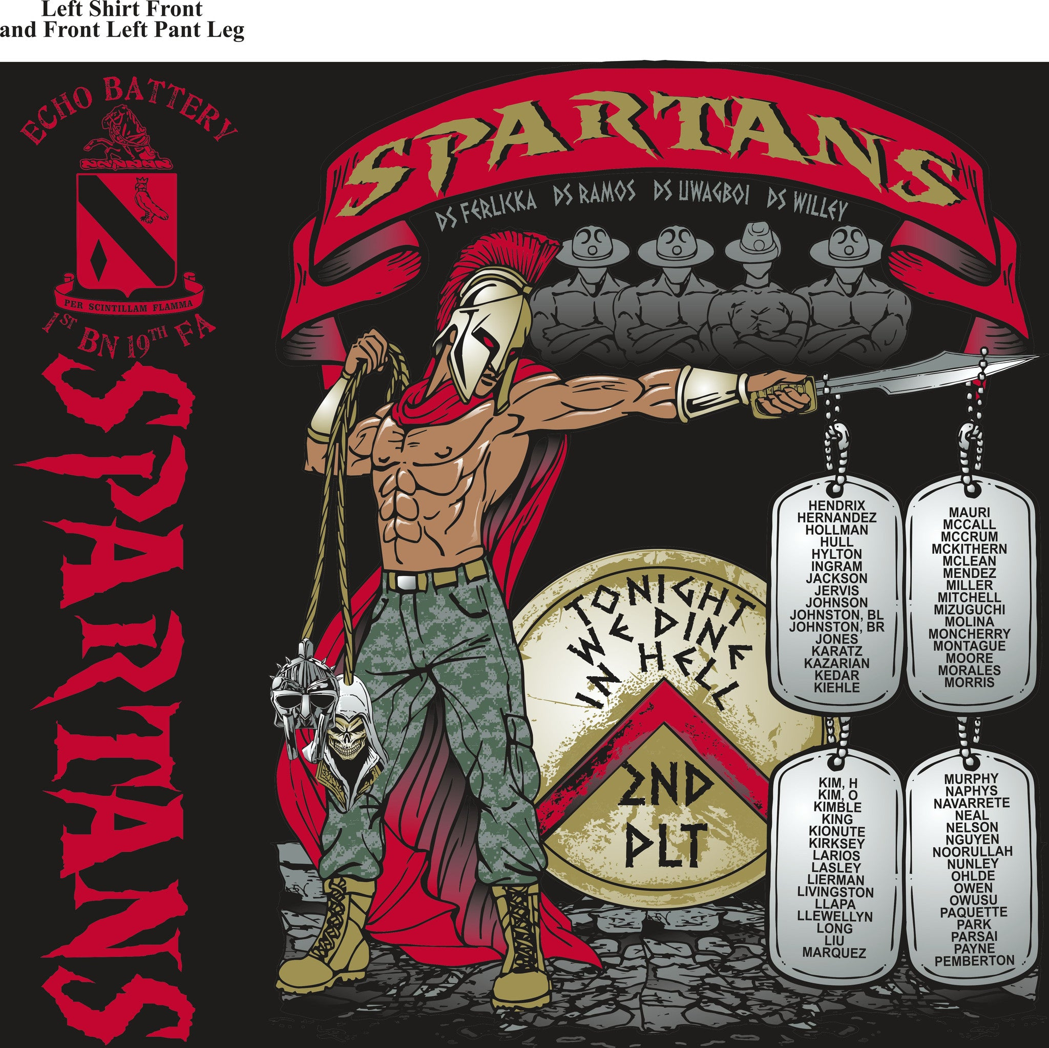 Platoon Shirts ECHO 1st 19th SPARTANS MAR 2015